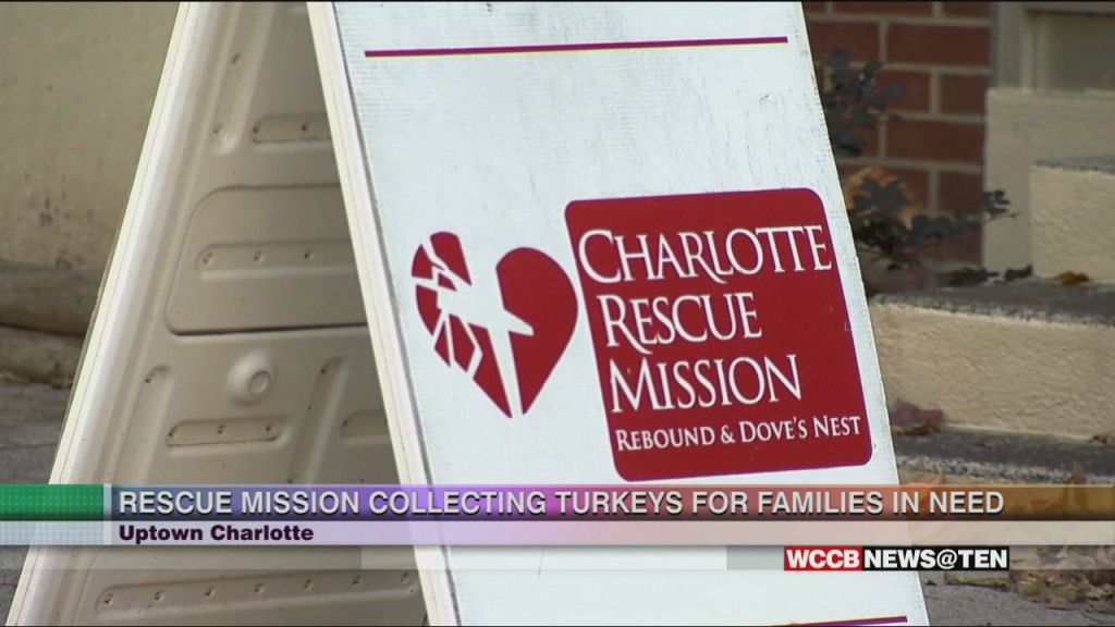 Charlotte Rescue Mission Collecting Turkeys