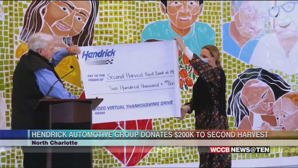 Hendrick Automotive Group Donates To Second Harvest Food Bank