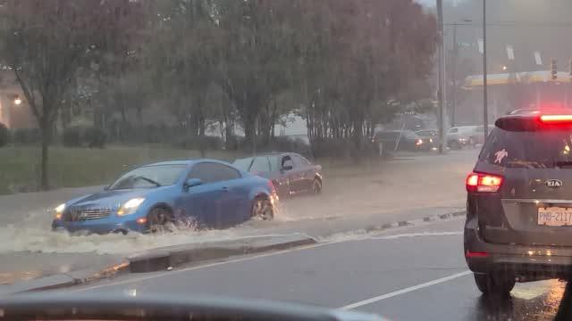 Flooded Car In Wilkinson