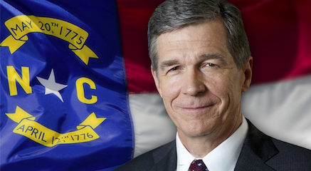 Gov. Roy Cooper Graphic With Flag 2020