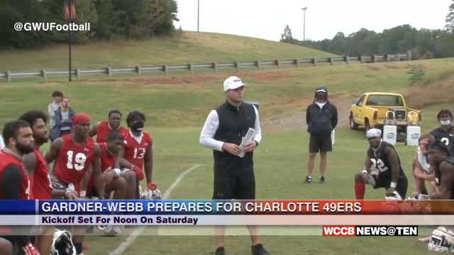 Gardner Webb Football Prepares For Charlotte 49ers
