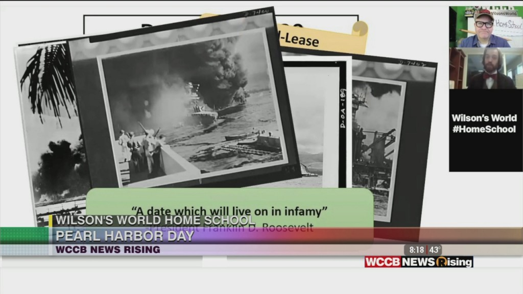 Wilson's World Homeschool: Zach The Historian Disucsses The Attack On Pearl Harbor And National Pearl Harbor Remembrance Day