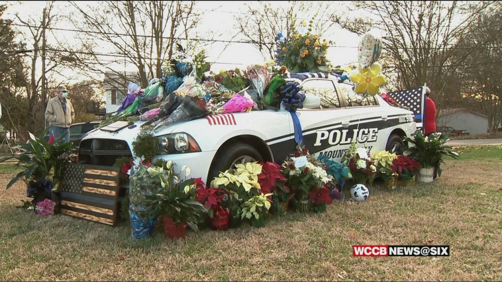 Growing Memorial For Mount Holly Officer Killed In Line Of Duty