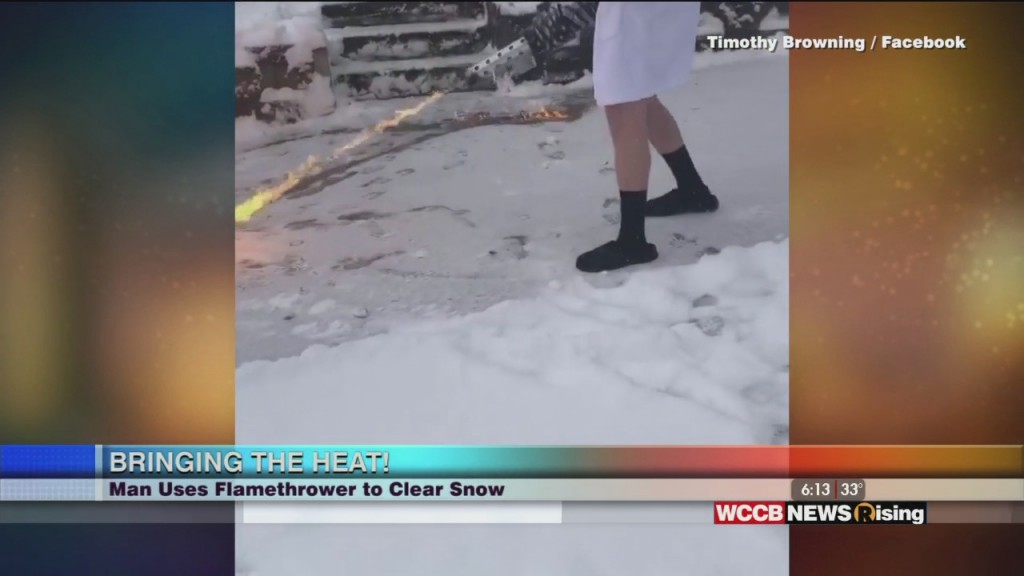 Viral Videos: Man Clears Snow With Flamethrower