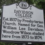 Davidson College Marker