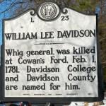 Davidson William Lee Historical Marker