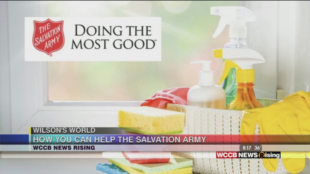 Wilson's World: Finding Out More About Welcome Home Baskets Donated By The Salvation Army