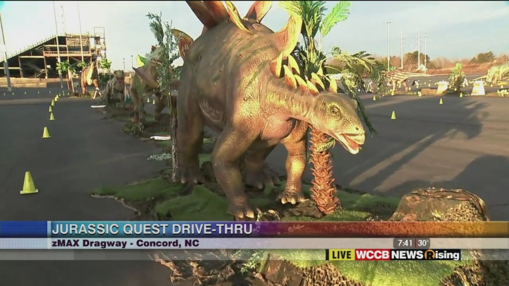 James Scott Live At Zmax Dragway Previewing The Jurassic Quest Drive Thru Experience
