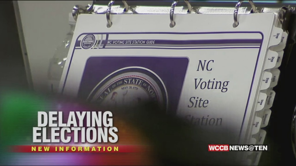 Local Elections In North Carolina Could Be Delayed By A Year