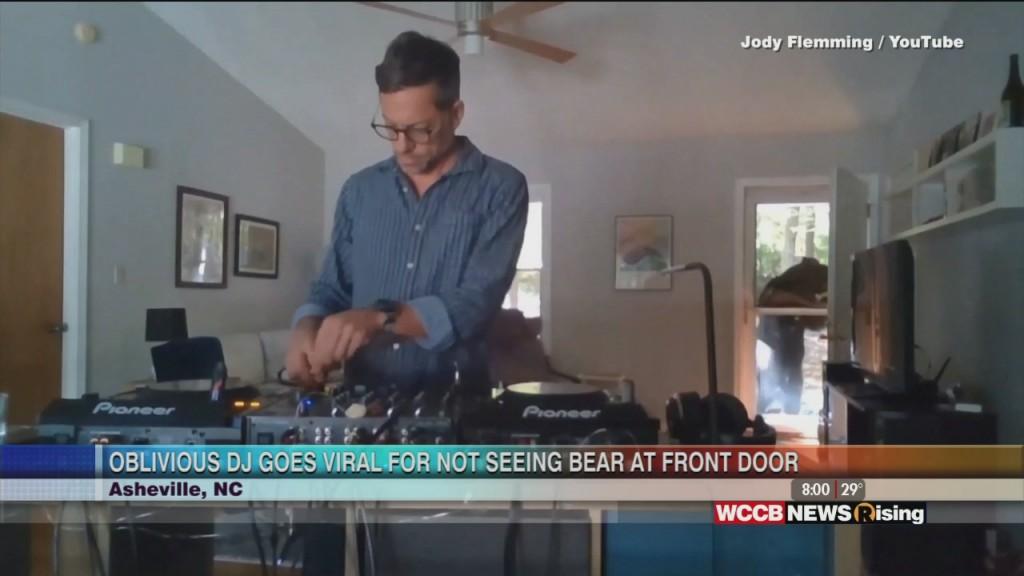 Asheville Dj Is Unaware Of Bear At His Door