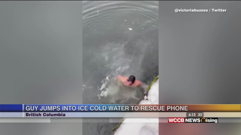 Viral Videos: Guy Jumps Into Ice Cold Water To Save Phone And Frozen Fish Tank