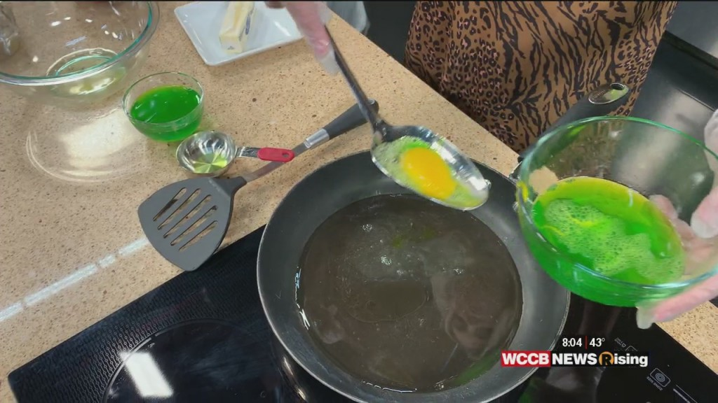 Nicole Tries To Make Green Eggs And Ham