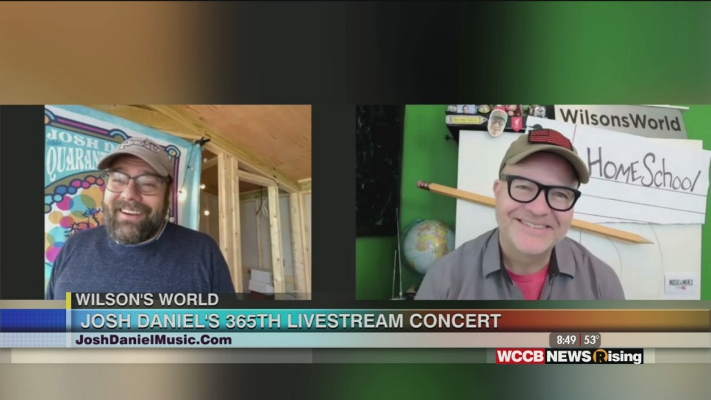 Wilson's World: Josh Daniel's 365th Livestream Concert Is Tuesday Night!