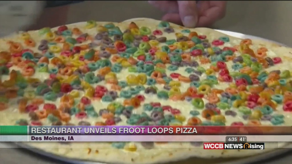 Restaurant Unveils Froot Loops Pizza