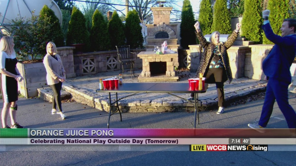 Orange Juice Pong For National Play Outside Day