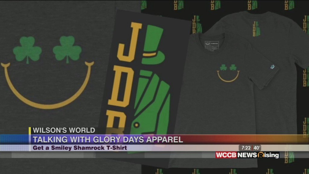 Wilson's World: Talking With Glory Days Apparel About New Charity T Shirt For St. Patrick's Day