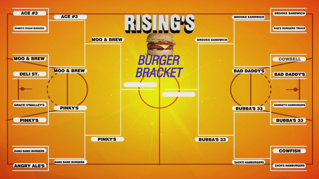 Rising's Search For The Best Burger: Final 4
