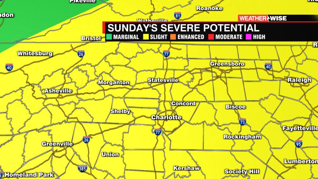 Sunday's Severe Weather Risk