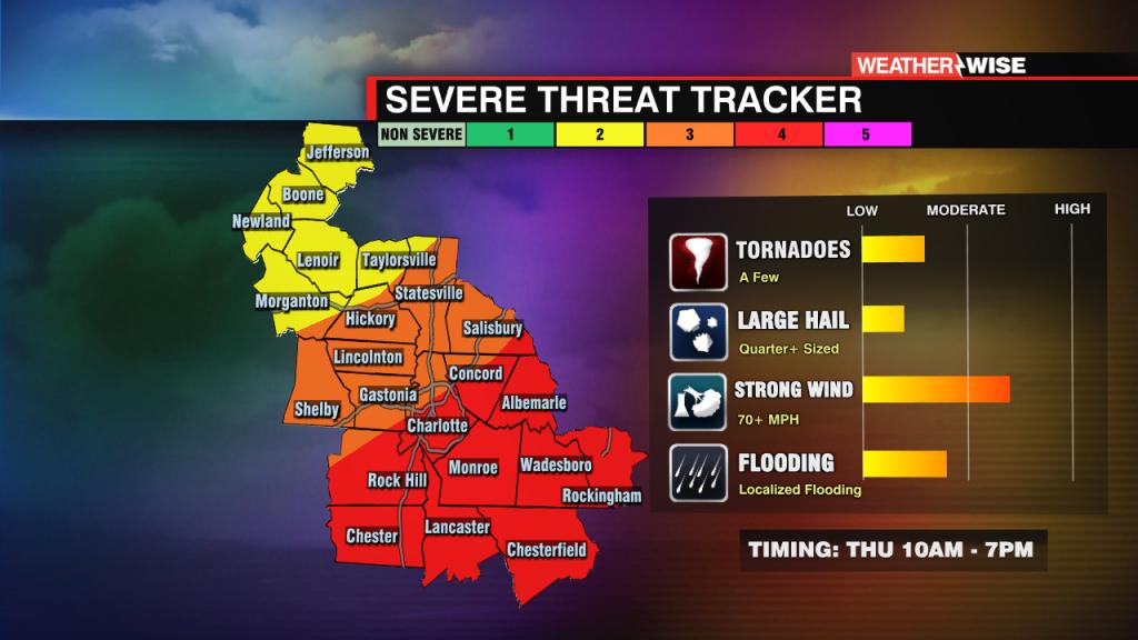 Severe Threat Map Outside