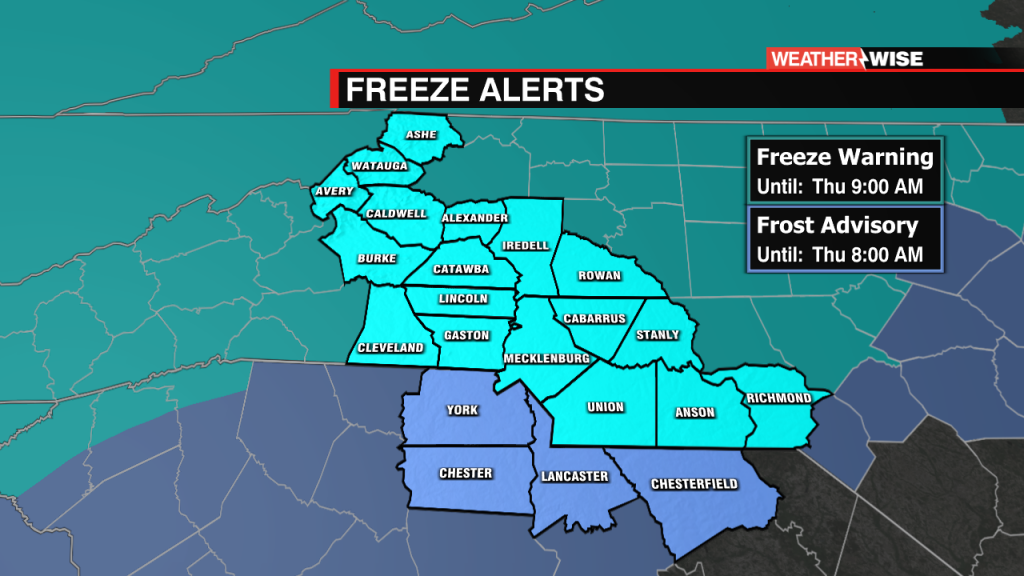Freeze And Frost Alerts Detail
