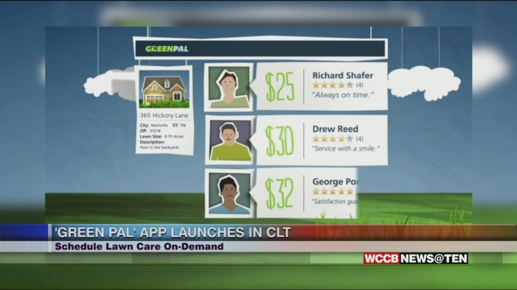 """""""greenpal"""" – App Known As 'uber For Lawn Care' Launches In Charlotte"""
