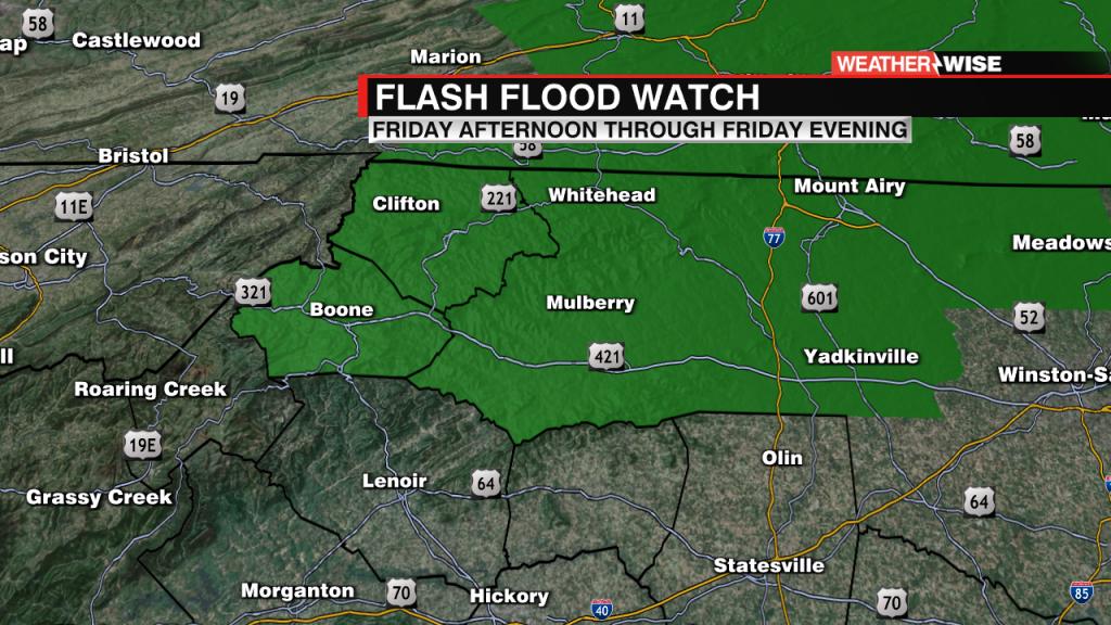 Friday Flash Flood Watch