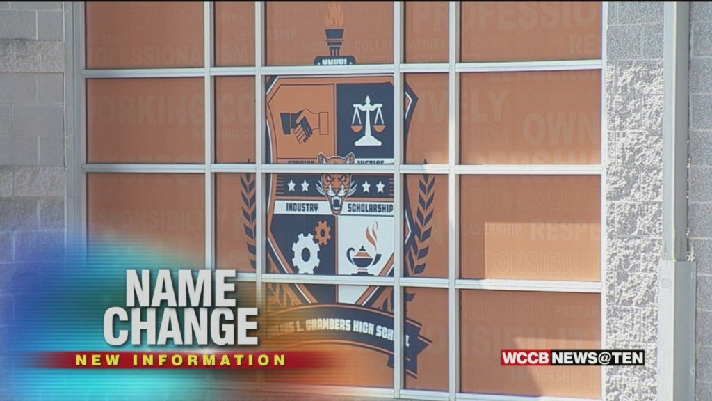Vance High School Officially Renamed; Other Confederate Names To Be Changed In Charlotte