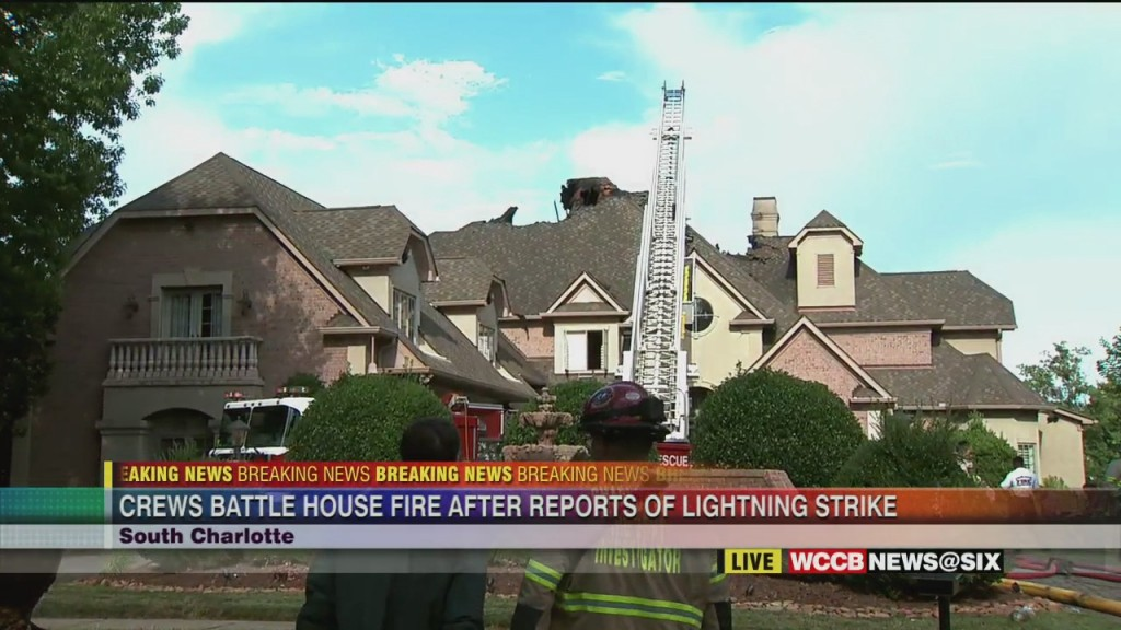 Lighting Strike Suspected Cause Of Ballantyne House Fire