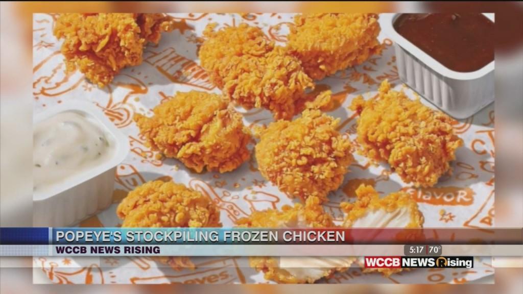 Popeye's Stockpiling Chicken