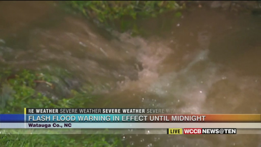 Concerns About Flooding In High Country Overnight