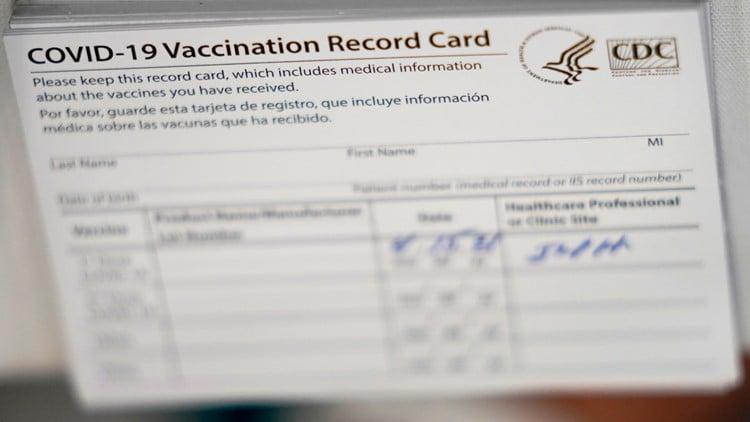 Covid Vaccination Card Photo Credit Ap