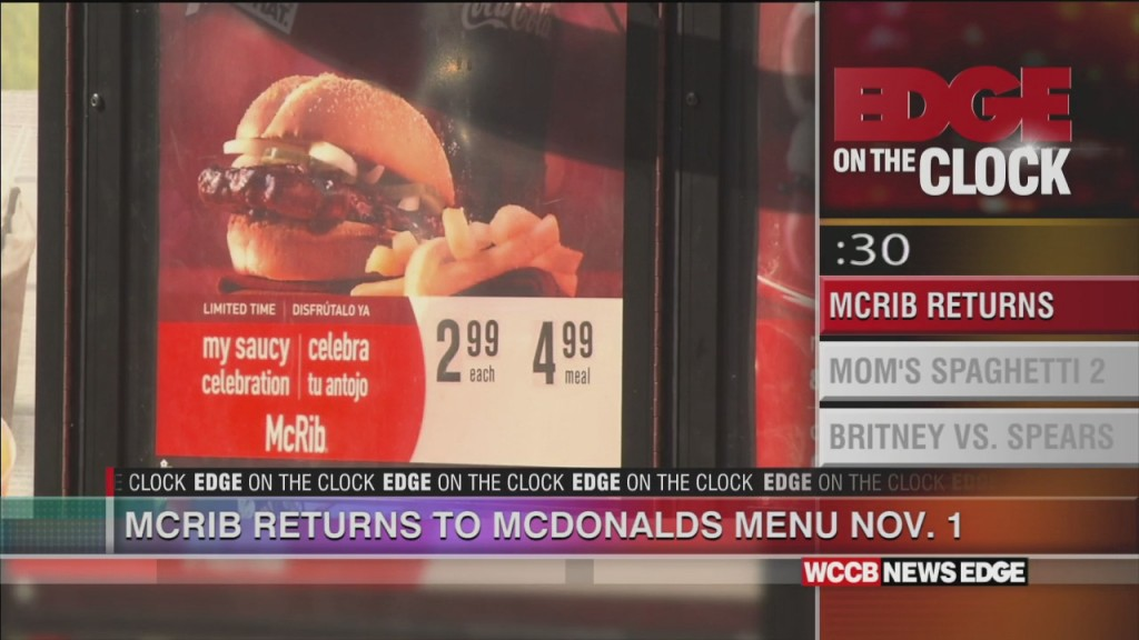 The Mcrib Is Back!