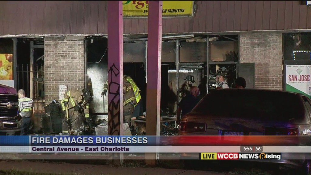 Fire Damages Businesses In East Charlotte