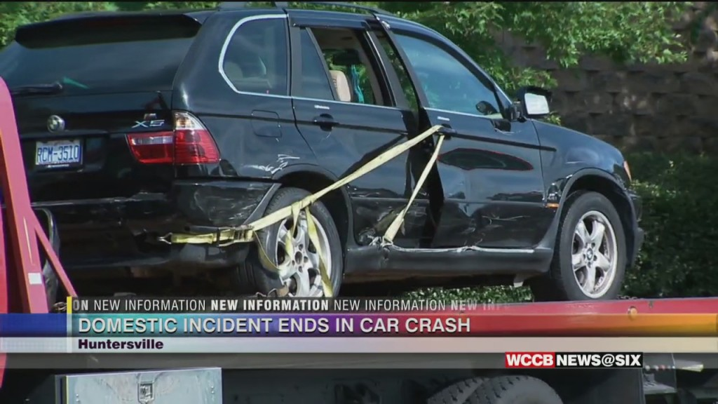 Domestic Incident Ends In Car Crash; Shot Fired