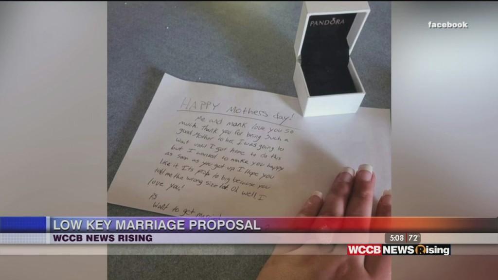 Low Key Marriage Proposal