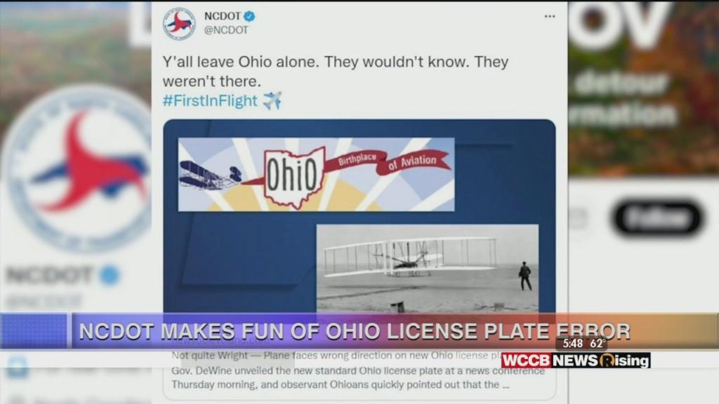 Ncdot Pokes Fun At Mistake On Ohio License Plates