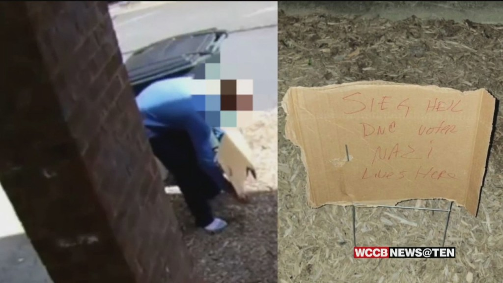 A Southwest Charlotte Man Finds A Sign In His Yard Calling Him A Nazi With A Nazi Salute