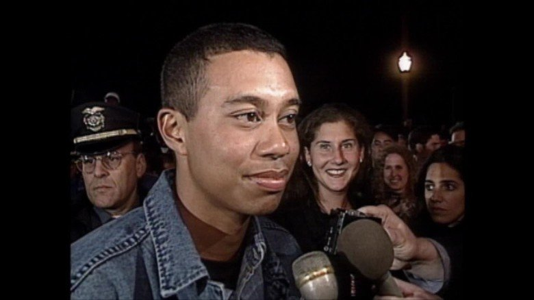 Tiger Woods interview with CNN after winning his first Masters tournament