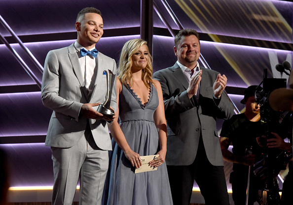 onstage during the 52nd Academy Of Country Music Awards at T-Mobile Arena on April 2