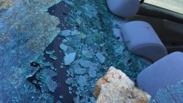 photo of smashed car window