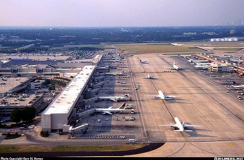 aerial picture of the Atlanta airport