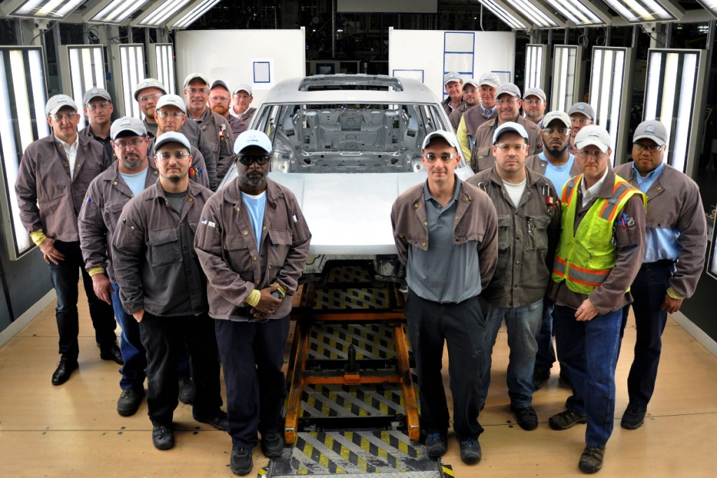 crew produces first test body of new midsize SUV