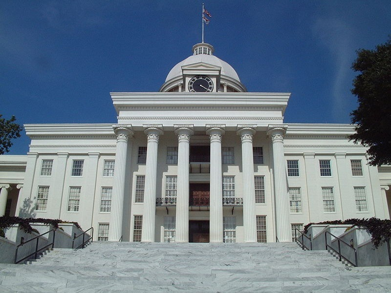 Alabama State capitol building in Montgomery