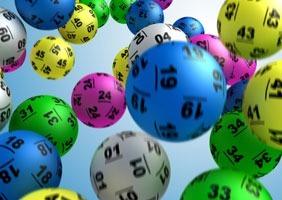 Lottery balls graphic