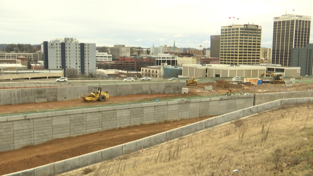 U.S. Highway 27 Construction Downtown Chattanooga 12-23-19