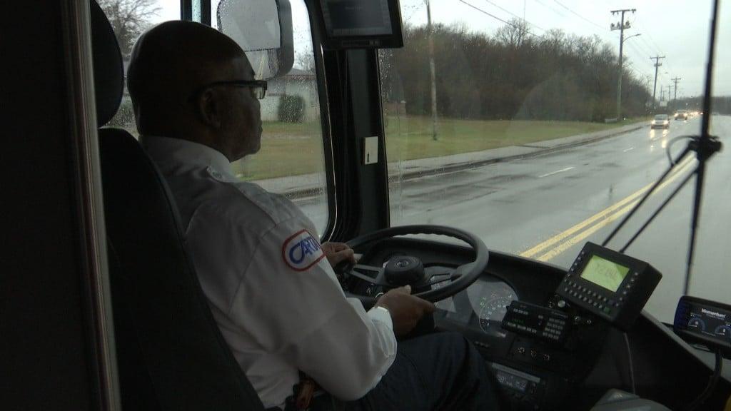 CARTA Bus Driver Driving in the rain.