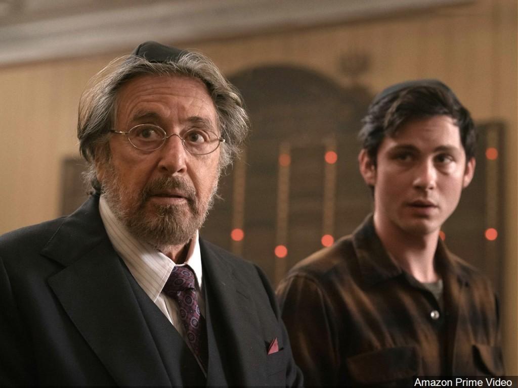 "Al Pacino (L) as Meyer Offerman and Logan Lerman (R) as Jonah Heidelbaum from the Amazon Prime Video series ""Hunters"""