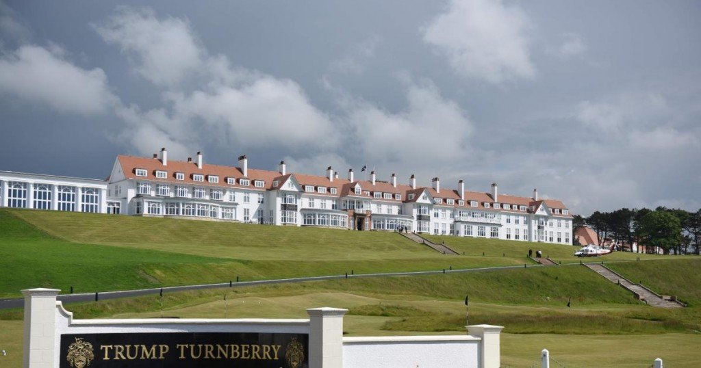 A general view of the newly-renovated Trump Turnberry hotel and golf resort in Turnberry