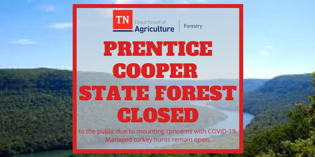 Prentice Cooper State Forest Closed
