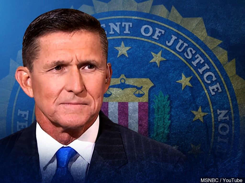 Michael Flynn abd FBI seal background